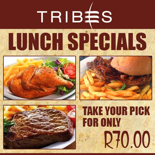 Tribes Lunch Specials